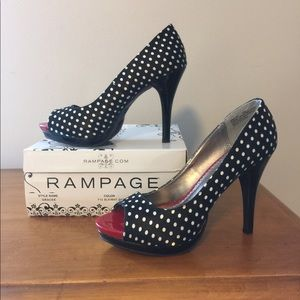 Rampage polka dotted high heels